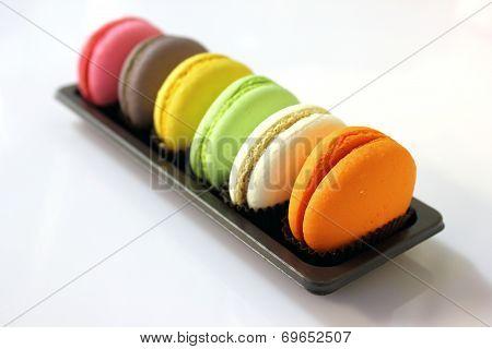 Macaroon Cookies In Macro.