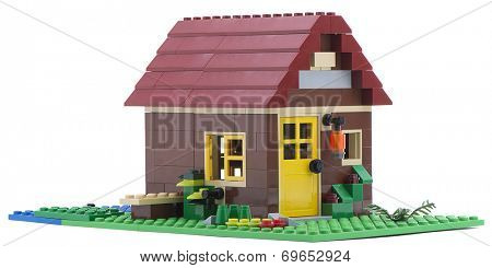 Ankara, Turkey - July 18, 2013: Lego Creator - House is a 3 in 1 countryside houses packed with great details isolated on white background