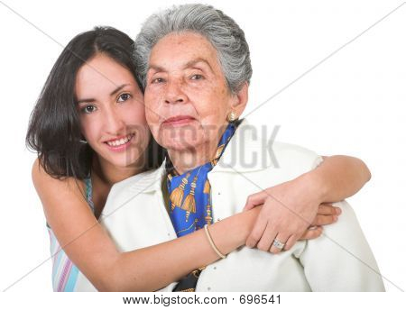 Grandmother And Her Grandchild