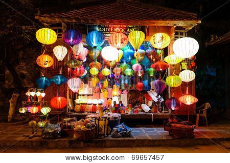 Hoi An, Vietnam - March 13: Traditional Lanterns Store On March 13, 2009 In Hoi An, Vietnam. Hoi An