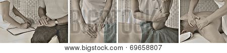 Vintage Style Massage Website Banner