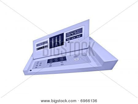 blue Digital Control Panel, Diet Medicine Test, Isolated
