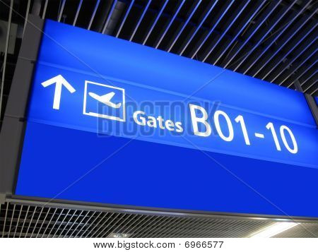 Airport Gate Sign, Flight Boarding, Airline,europe