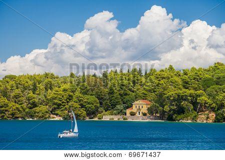 Madouri island in Nidri Lefkada Greece