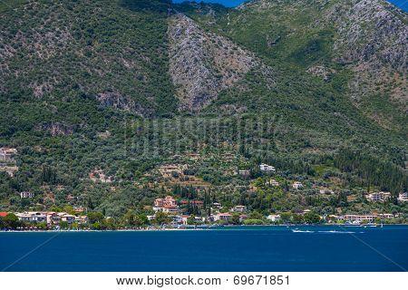 Nidri on Lefkas island Greece