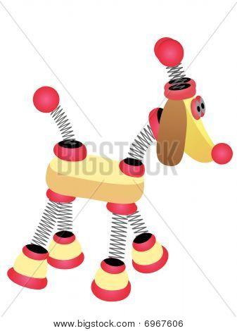 Springy Cartoon Robot Dog Walking