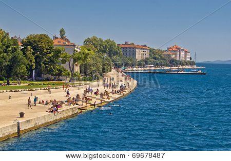 Zadar Riva Waterfront View In Dalmatia
