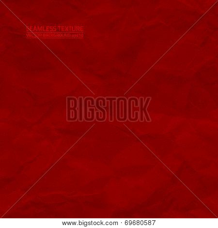 Creased Red Paper Vector Seamless Texture