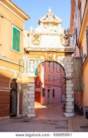 Balbi Arch In Rovinj, Croatia