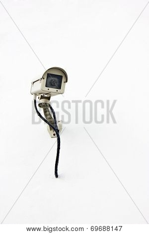 Cctv, Security Camera In The City Isolated On White Background.