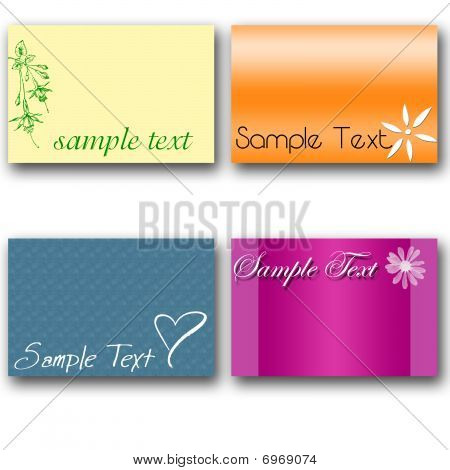 Sample Text 4 Cards