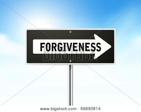 Forgiveness On Black Road Sign