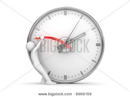 Stopping Clock Hands To Stop The Time