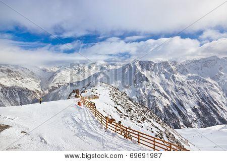 Mountains Ski Resort Solden Austria