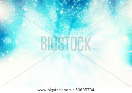 Winter Snowy Blizzard Background