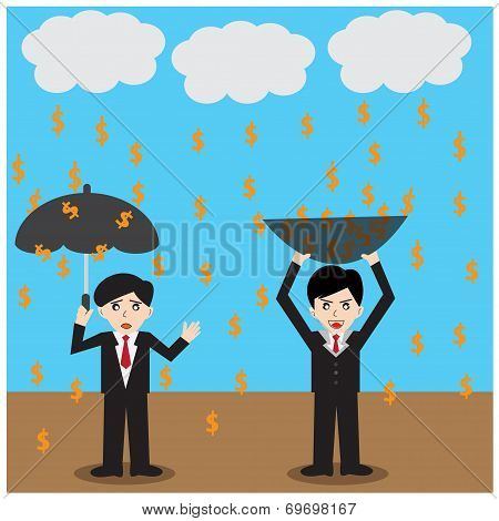 Business Success Money  Finance Dollar Rain