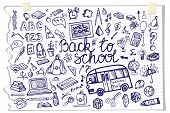 picture of drow  - Back to School Supplies Sketchy Notebook Doodles lettering with  Swirls - JPG