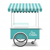 image of awning  - Ice cream cart - JPG