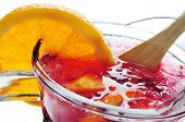 picture of sangria  - closeup of a pitcher with typical spanish sangria - JPG
