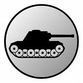 image of panzer  - Panzer button on white background - JPG