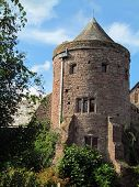 pic of stockade  - Castle tower photographed at Tiverton in Devon - JPG