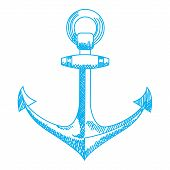 pic of navy anchor  - Anchor icon - JPG