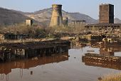 foto of mica  - Ruins of a very heavily polluted industrial site at Copsa Mica Romania - JPG
