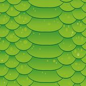 stock photo of lizard skin  - Snake skin texture Seamless pattern green background Vector crocodile - JPG