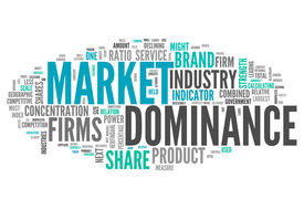 picture of dominate  - Word Cloud with Market Dominance related tags - JPG