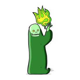 pic of ghoul  - cartoon waving halloween ghoul - JPG