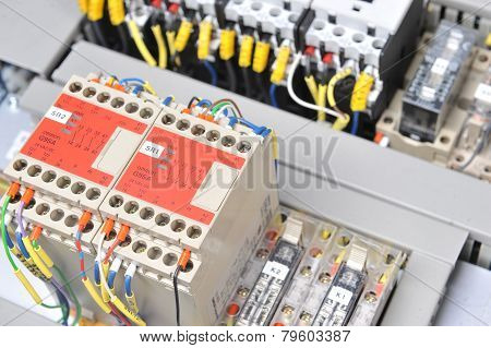 Panel With  Electrical Equipment