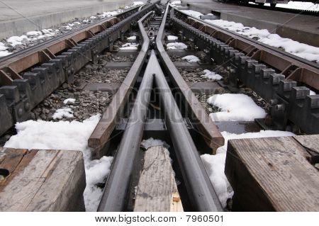 A Cog Railway, Pens And Rails Railway, Rack-and-pinion Railway Or Rack Railway. Jungfraubahn, Switze