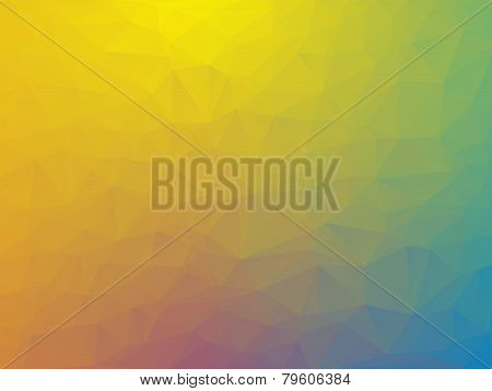 Abstract Triangular Yellow Green Blue Purple Background