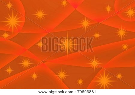 Abstract Star With Orange Background
