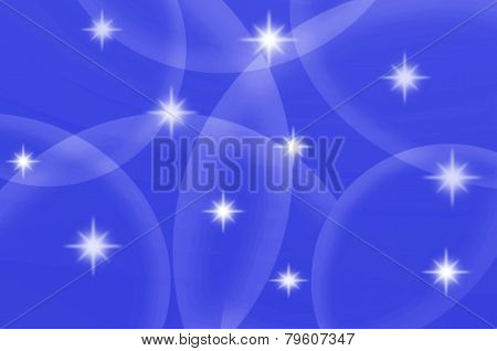 Abstract Blue Color With Stars