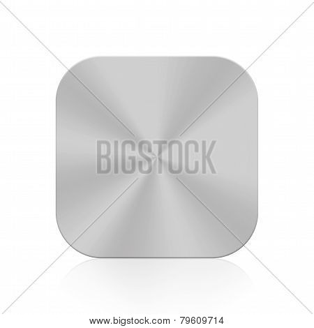 Metal Silver Button Icon Texture Isolated