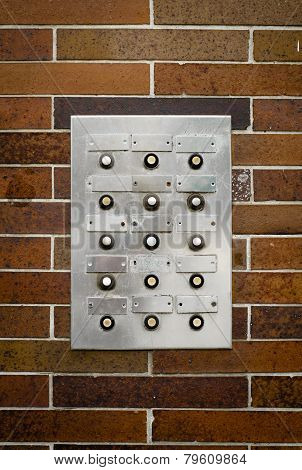 Retro Grungy Apartment Intercom