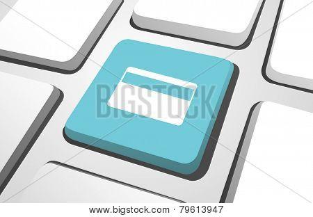 Computer Key : Credit Card Vector
