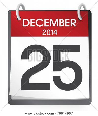 December 25th Calendar Vector