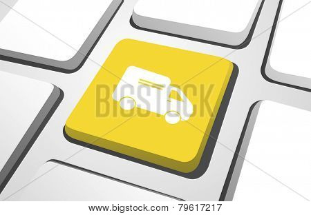 Computer Key : Delivery Icon Vector