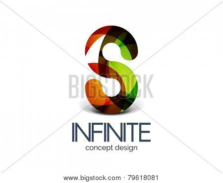 Infinity business logo concept, cycle or loop concept