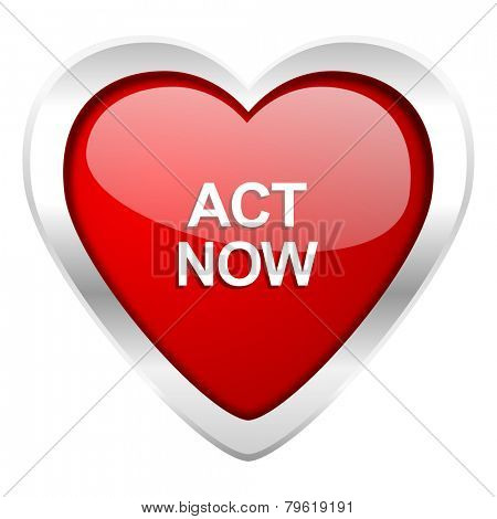act now valentine icon