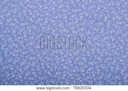 Cotton  fabric texture with drawing flowers