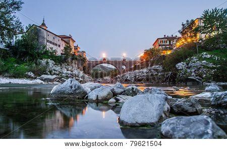 Town Kanal ob soci, Slovenia