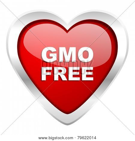 gmo free valentine icon no gmo sign