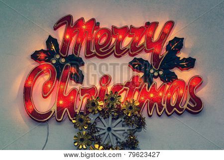 Merry Christmas Lights Sign