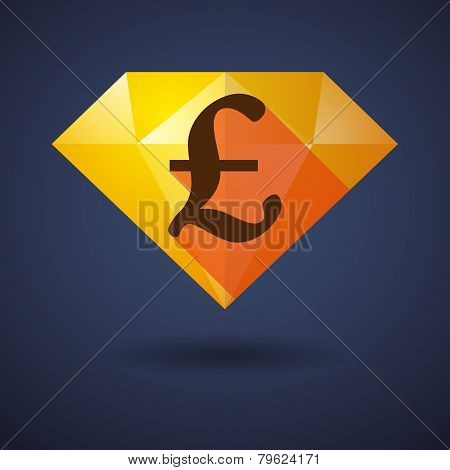 Diamond Icon With A Currency Sign