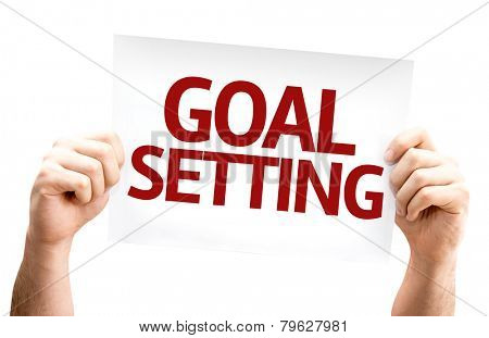 Goal Setting card isolated on white background