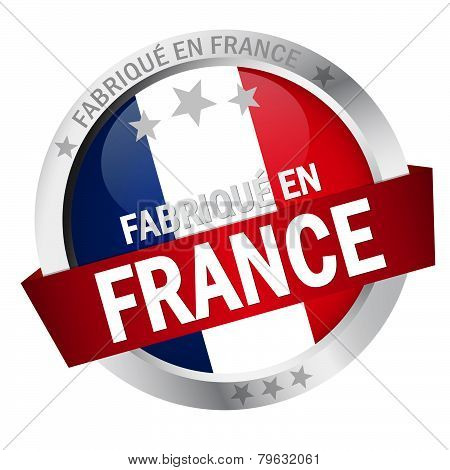 Button With Banner Fabrique En France