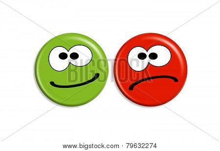 Smilies - Positive And Negative